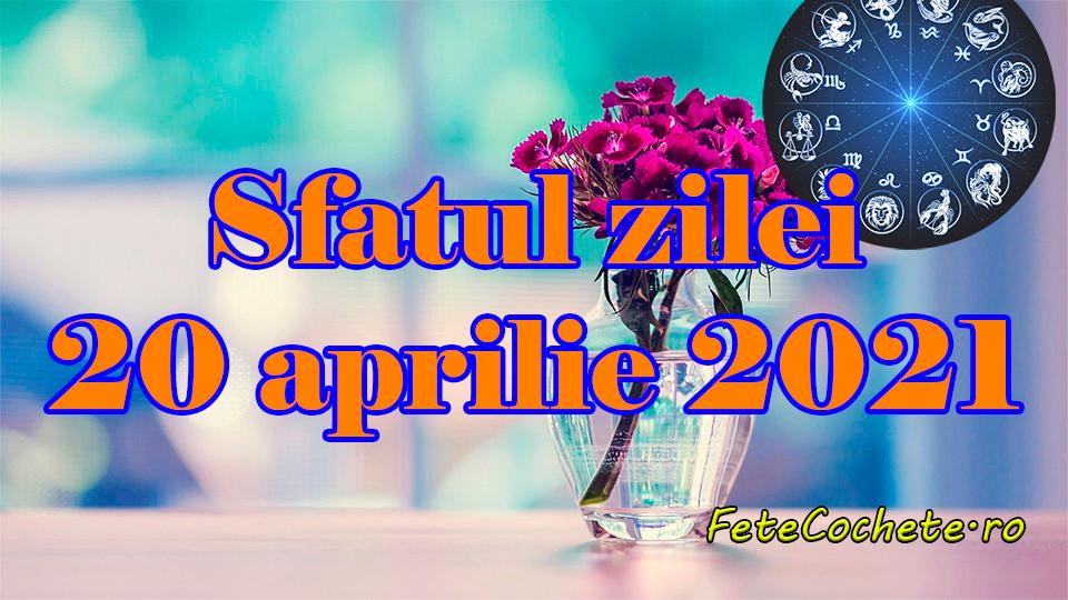 Sfatul zilei 20 aprilie 2021. Racii trebuie să evite rutina, iar Gemenii să se concentreze pe prezent