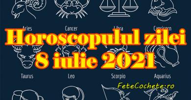 Horoscop 8 iulie 2021. Peștii vor experimenta în viața intimă, iar Berbecii se vor distra de minune